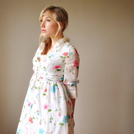 70s Floral Prairie dress
