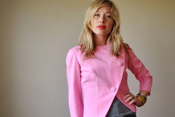 Bubble Gum Pink Asymmetrical Jacket