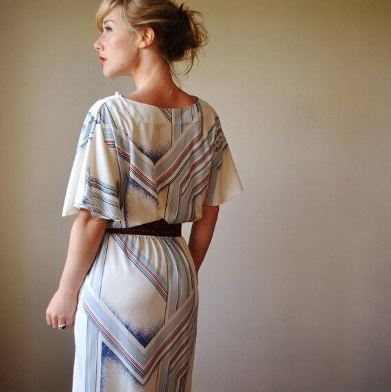 1970s Southwestern print dress