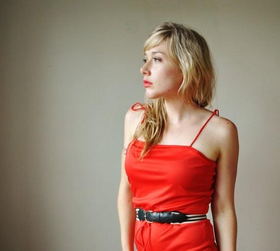 1970s Lipstick red Jumpsuit