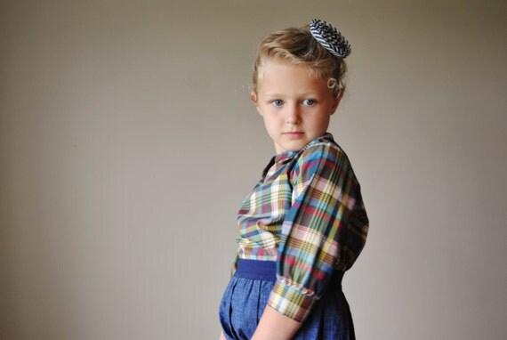 1960s Jewel plaid blouse, size 4/5