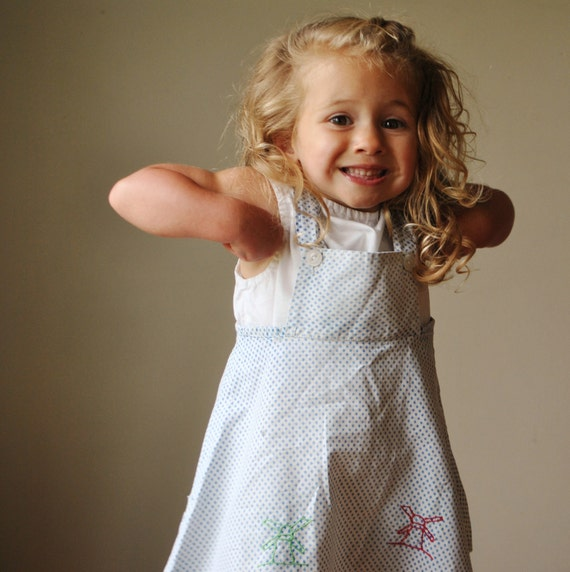 1940s Windmill Pinafore dress, size 2T
