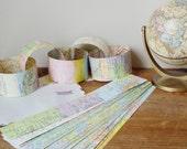 Paper Chain Kit Vintage Maps Bon Voyage Party DIY Garland Decoration