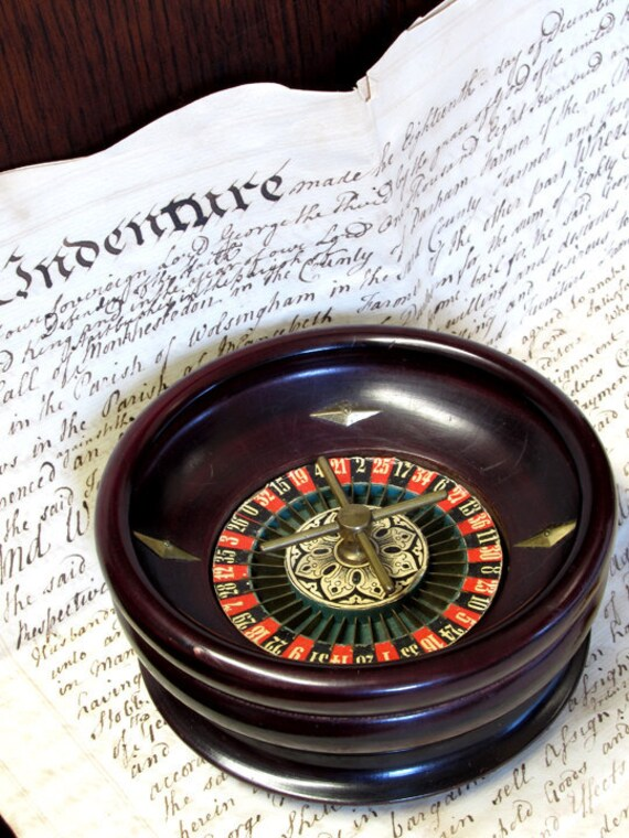 Antique 1900 French Roulette Wheel