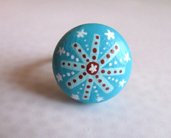 ring - turquoise fireworks