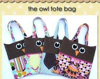 Owl Tote - PDF Pattern
