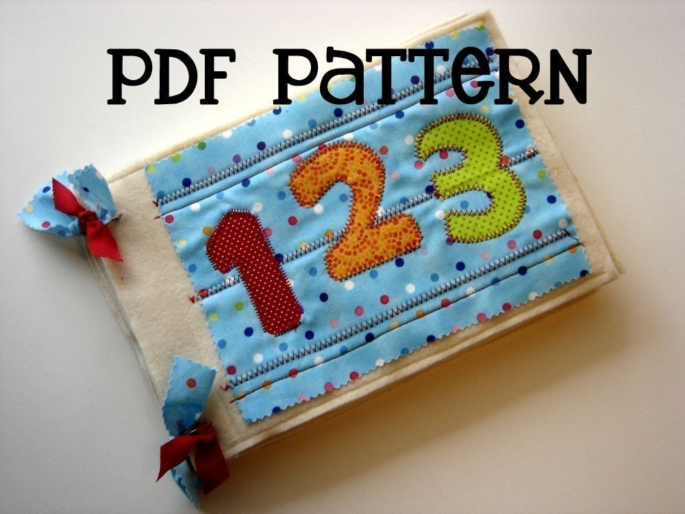 Quiet Book Cover Pattern : Numbers quiet book pdf pattern