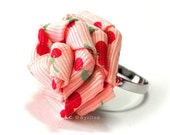 Sweet Cherry Pink Rose Ring