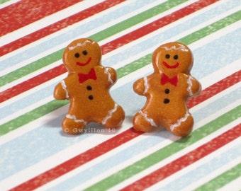 Gingerbread Man Earrings - (1)