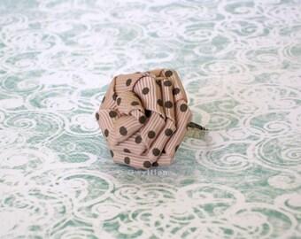 Cute Polka Dot Flower Drop - Coffee