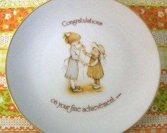 Vintage Holly Hobbie Plate 1975