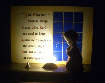 Vintage Prayer Night Light/Plak Lite