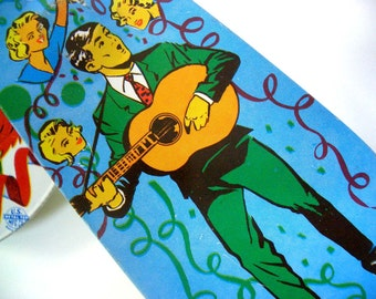 Vintage Noise Maker with Retro Guitar Player