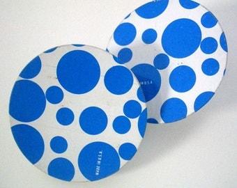Vintage Noise Makers Blue Polka Dot - Set of two