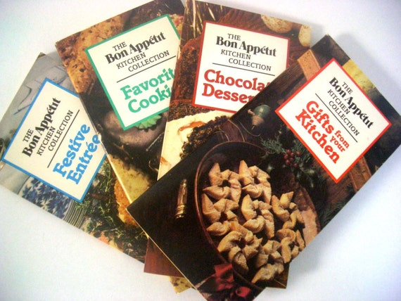Vintage Bon Appetit Kitchen Collection Cookbooks - Set of 4