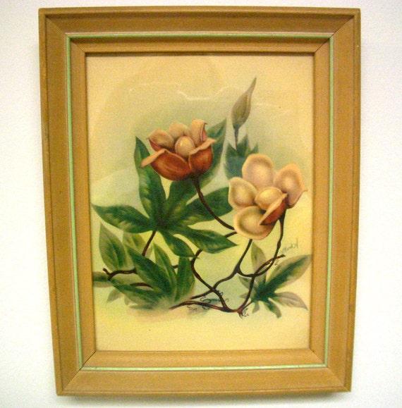 Vintage Mund Ott Floral Framed Print