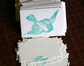 Blue Bird Soar - Hand stamped cards & envelopes