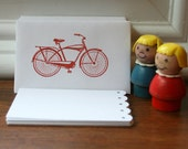 Red Bicycle Mini Envelopes & Cards