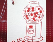 Gumball Machine Candy Tag