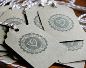 Handmade With Love Hang Tags - Kraft