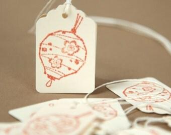 Chinese Lantern Tags - Asian