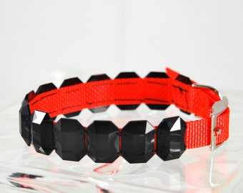 "16"" Black and Orange Dog Collar"
