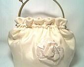 Purse Pouch in Winter White for the Bride