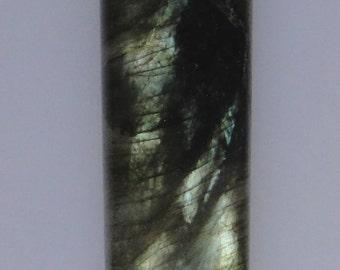 Labradorite rectangle cab, 26 carats, various color flash                                     043-12-082