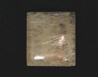 Gold Rutile Quartz cabochon, 59.52 carats, 27.8x24.8mm                                       069-12-006