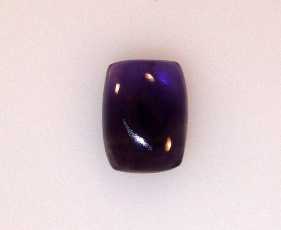 African Amethyst cushion cab 12x16mm dark purple                               002-12-003