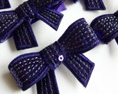 Purple Sequin Bow Hair Clip -  Sequined Bow Clippie - special occasions and every day - birthday party favors - clip with non slip grip