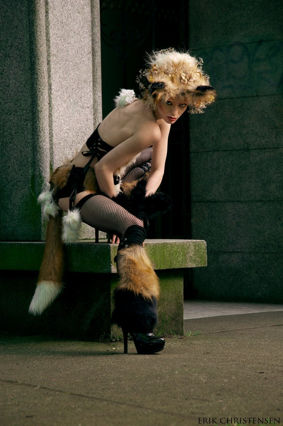 Red Fox Garter Belt with Tail