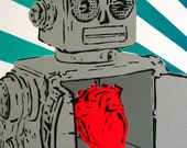 STENCIL ART limited edition ROBOT LOVES YOU