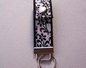 Snap Key Fob Pink and Black