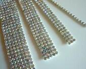 DIVA Rhinestone Banding Trim  /  AB Iridescent Crystal  / 2 rows, 1 yard / DAB236