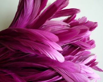 COQUE TAIL FEATHERS Loose /Dusty Magenta Pink  / 168