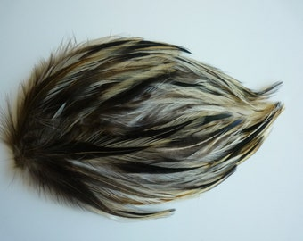 FEATHER PADS  Earth Tones Yellow Badger all Natural Not Dyed / 43