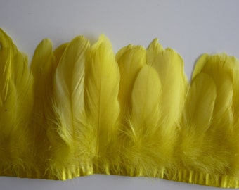 FEATHER FRINGE Fine Quality Goose Nagoire, Canary Yellow, /457