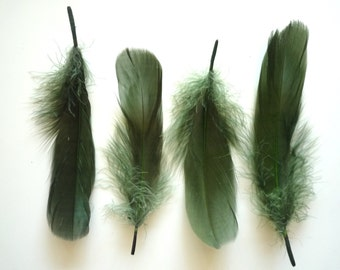 GOOSE NAGOIRE Loose Feathers  / Dark Moss Green / 294