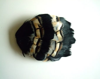 FEATHER PADS/Black and Natural / 90 . A