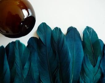 GOOSE FEATHER FRINGE ,   Malibu,  Jade Green/  446 / Best Selling Goose