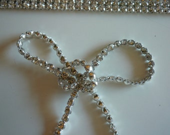 DIVA Rhinestone Banding, Trim   / Excellent quality / Clear Crystal / 1 Row / EMMA