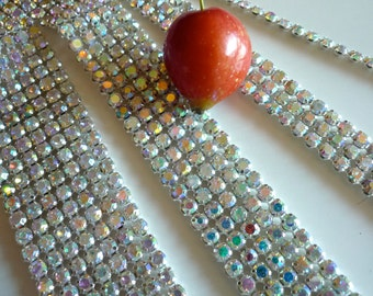 DIVA Rhinestone Banding Trim  /  AB Iridescent Crystal . APRIL