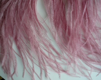 VOGUE OSTRICH Feather Fringe / Antique French Pink /  378