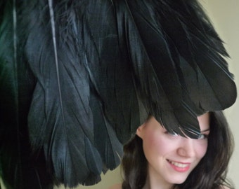 VOGUE GOOSE FEATHER , Exclusive  Quality, Darkest Crow Black  /  441 - 2