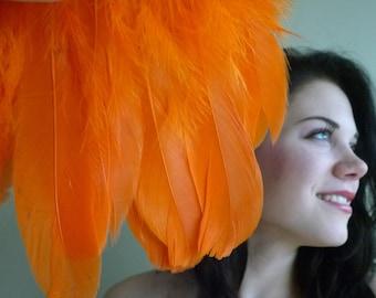 GOOSE Feather  Fringe,  Lilly Orange  /  442
