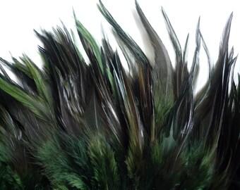 VOGUE SADDLE,  Dark Moss, FERN  Green w darker tips   /  260