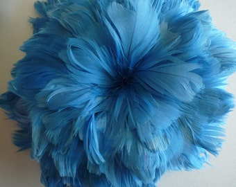 GOOSE COQUILLE FEATHERS, Cornflower Blue  / 413