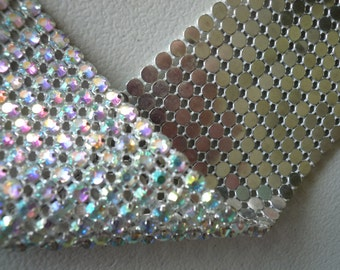 PRINCESS Rhinestone Banding, Trim / AB  Iridescent / 4 rows , 44 inches / ANNE
