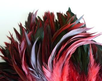 VOGUE Iridescent Silky Coque Tail / Red and Black / 642